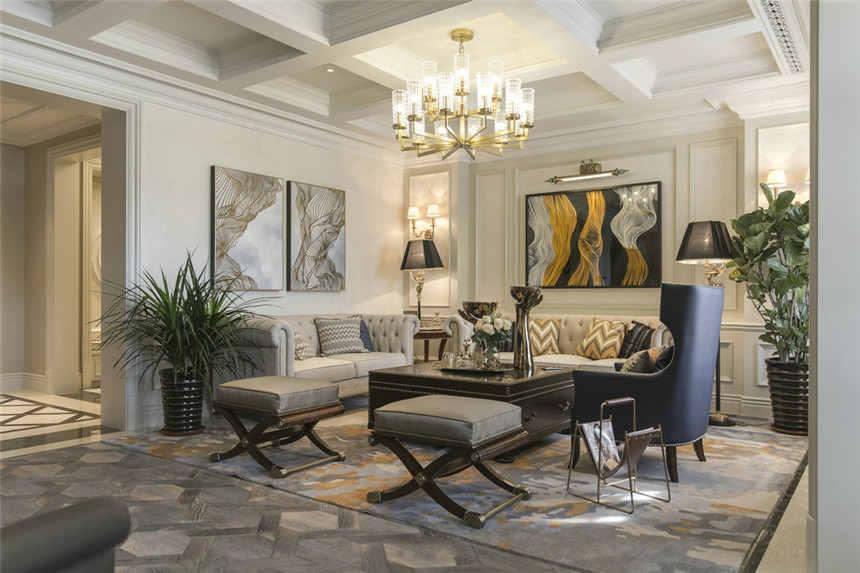 美式客厅装修 客厅装修效果图
