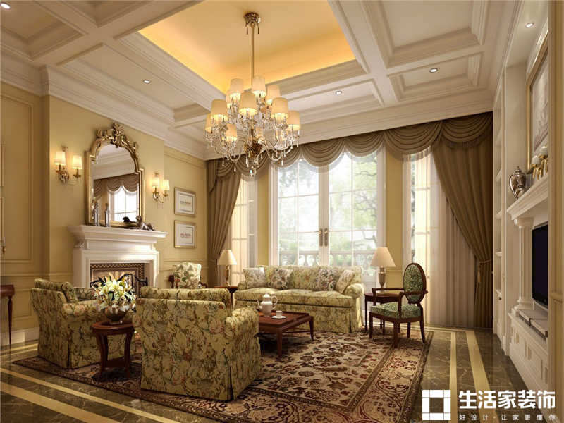 欧洲别墅装修 别墅客厅装修效果图