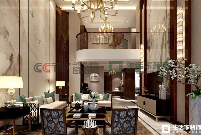 中式装修效果图 中式客厅装修技巧 成都装修公司生活家装饰