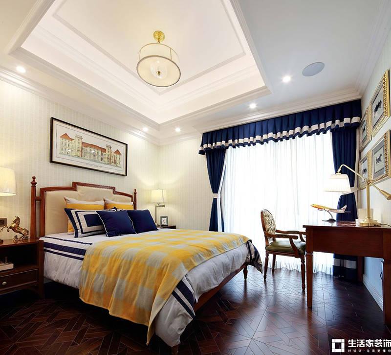 法式别墅卧室装修 别墅装修效果图 成都别墅装修公司