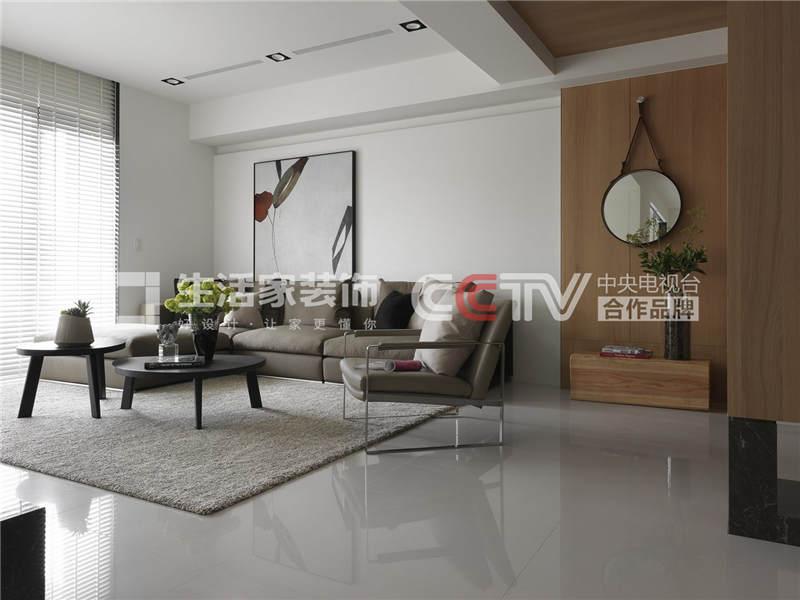 后现代客厅装修效果图 后现代客厅装修技巧 成都家装公司样板间