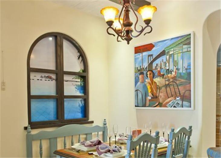 美式乡村客厅装修效果图
