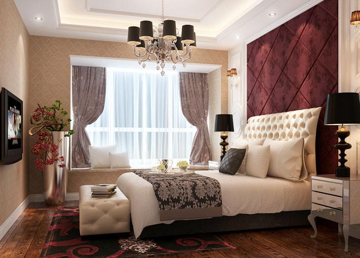 红橡华园卧室 长沙装修效果图