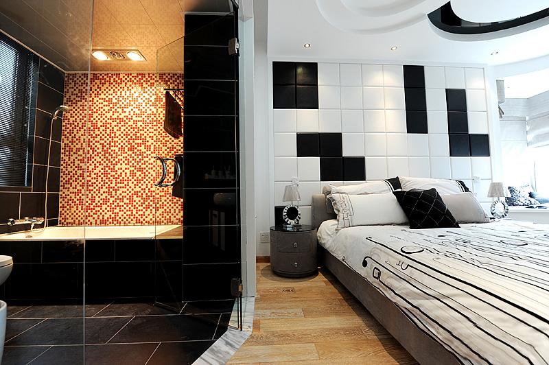 现代简约卧室+卫生间