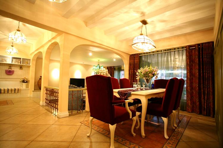 地中海风格客厅餐厅