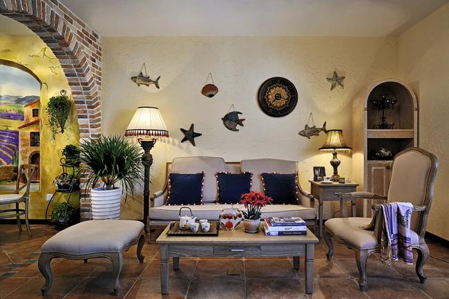 美式乡村客厅设计