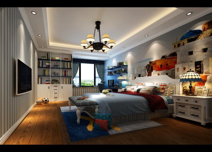 昆明市马街摩尔城-卧室-昆明装修效果1
