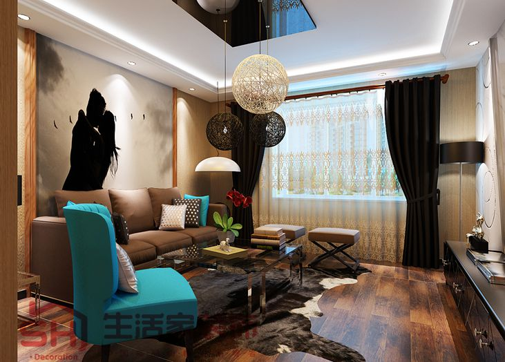 西安紫荆城客厅效果图