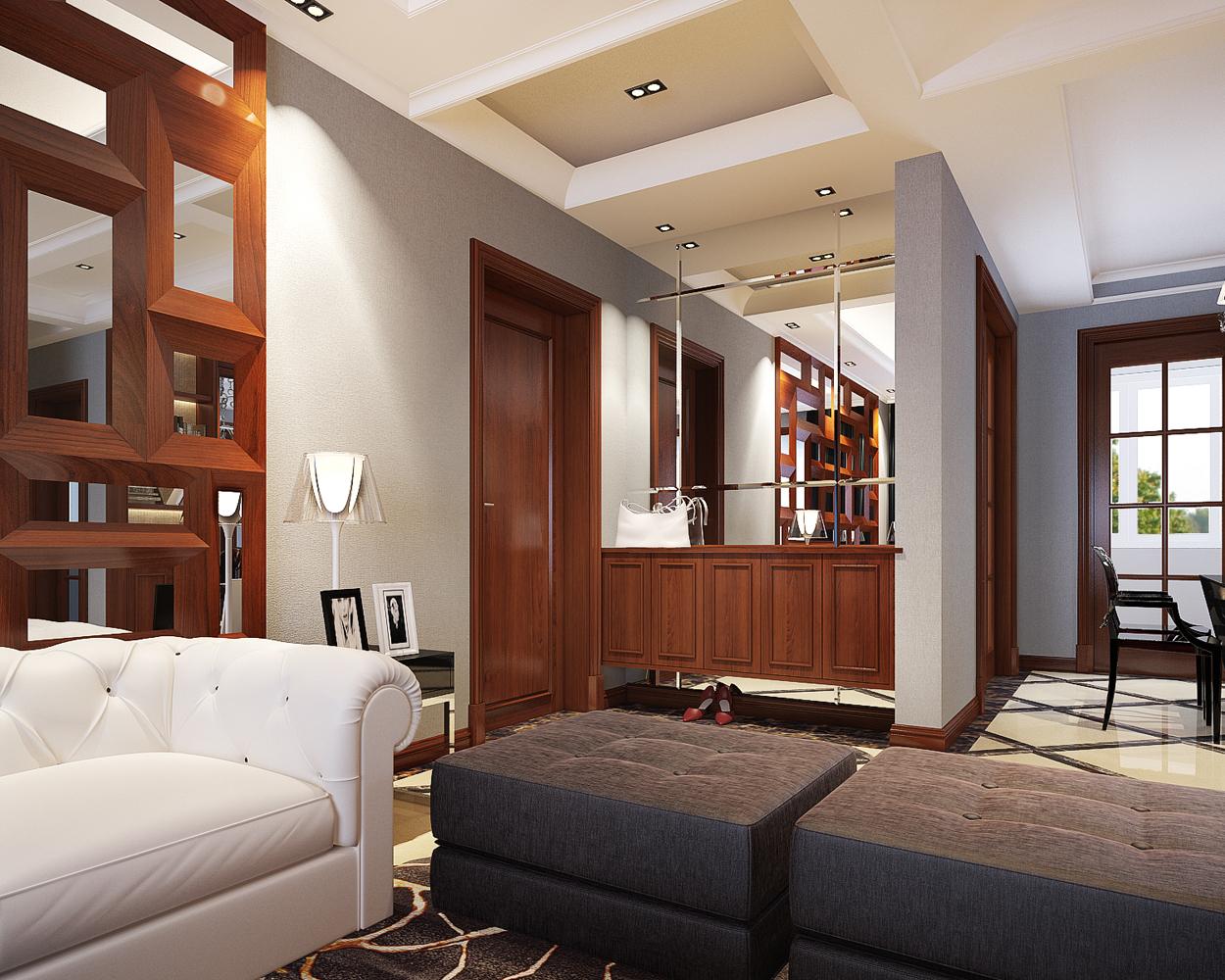 顶峰公寓-玄关-合肥装修效果图