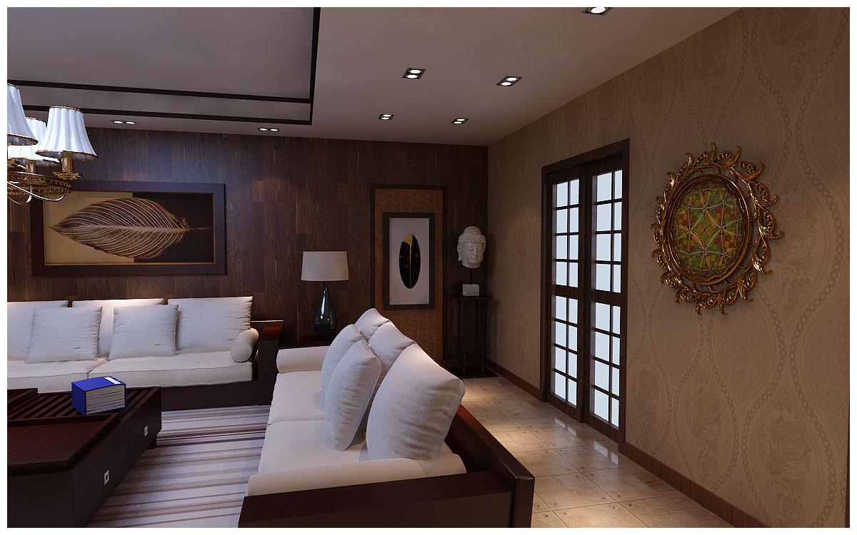 昆明市广福小区东区-客厅-昆明装修效果4