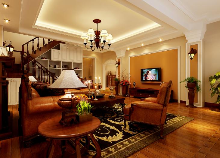 昆明市大观楼-客厅楼梯-昆明装修效果1