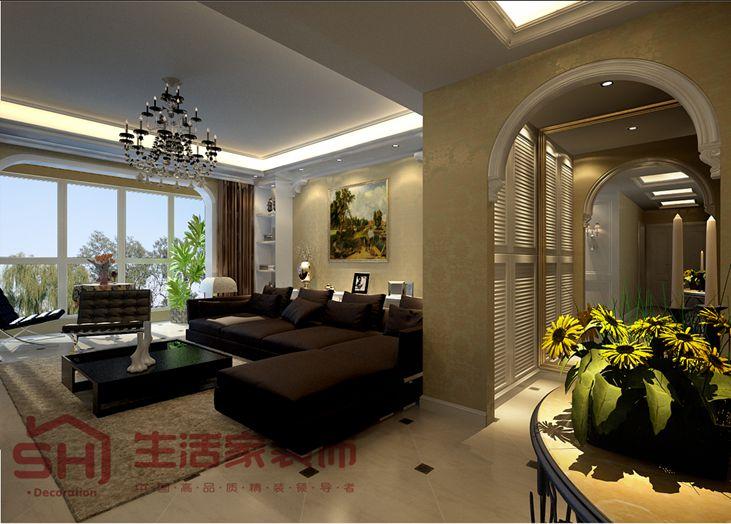 曲江城市花园客厅装修效果图