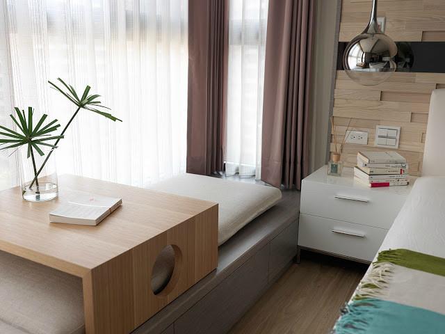 名匠誉峰小区--昆明卧室飘窗装修效果图
