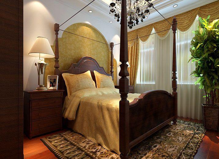 保利林语卧室美式效果图
