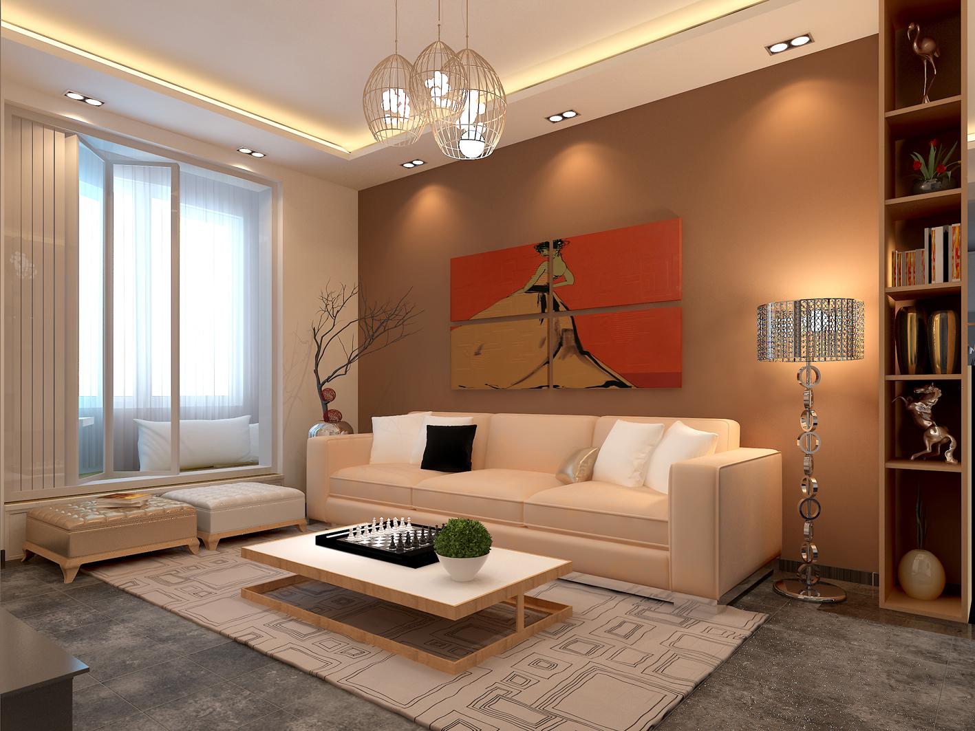景隆现代城 客厅 合肥装修效果图