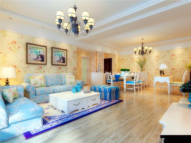 設計說明:地中海風格的基礎是明亮、大膽、色彩豐富、簡單、民族性、有明顯特色。