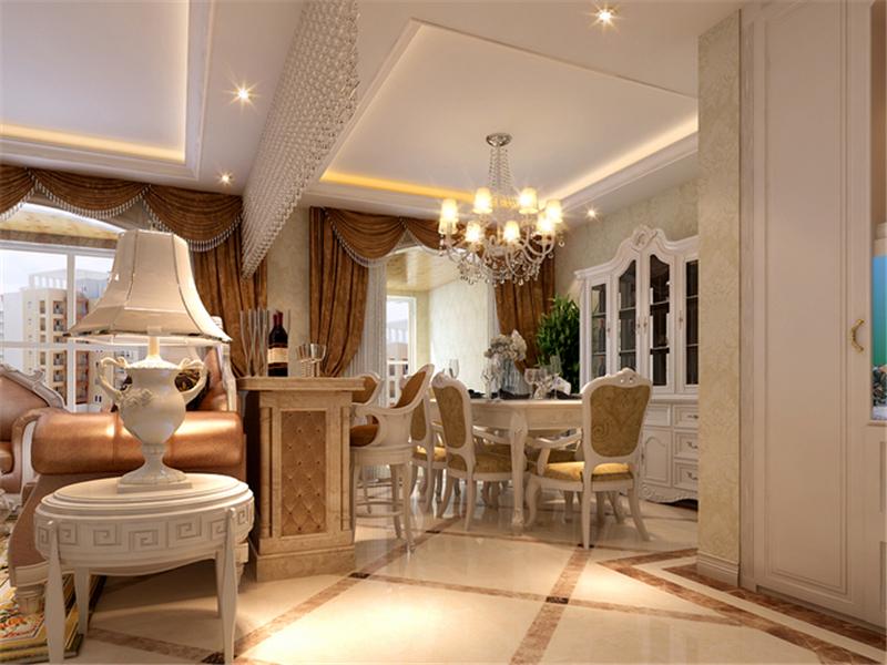 設計理念:古典歐式的居室有的不只是豪華大氣,更多的是愜意和浪漫。通過完美的典線,精益求精的細節處理,帶給家人不盡的舒服觸感,實際上和諧是古典歐式風格的最高境界。精致的水晶簾,古典的唯美的歐式家具,純凈搖曳的色彩,這是每個人都渴望的充滿童話色彩般的家,當我們的家真的成為了童話的世界,它應該很美。