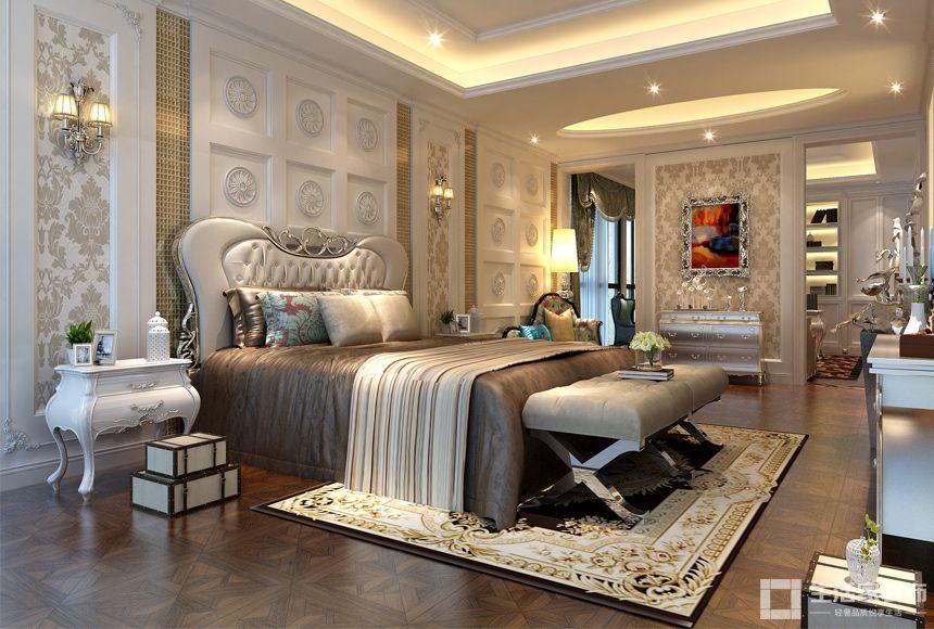欧式别墅装修效果图案例,轻奢风最懂你的心冲门装修图片