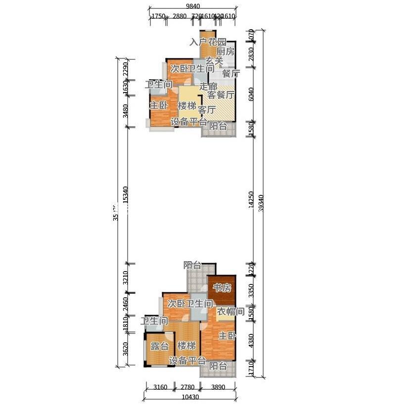 酷家乐装修网-乐湾国际户型5室1厅4卫1厨-户型图