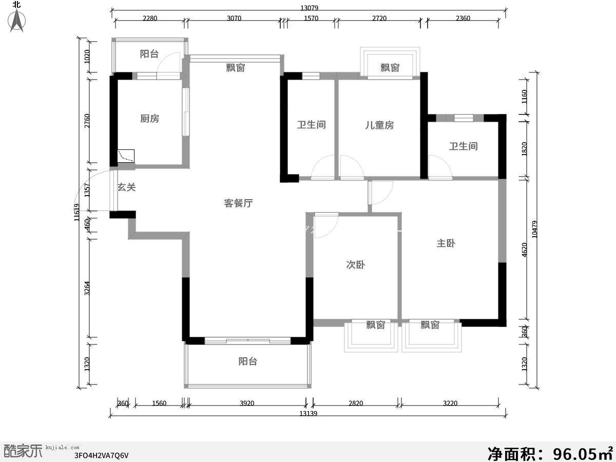 酷家乐装修网-中天铭廷-户型图
