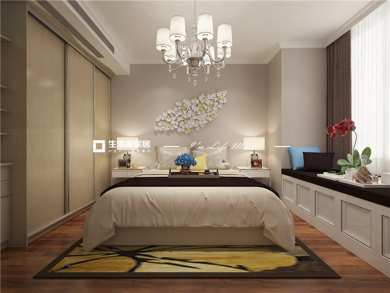 现代住宅的发展,小家庭的组建,人们心理上的要求,希望卧室具有私密性、蔽光性,配套洗浴,静谧舒适,与住宅内其他房间分隔开来。卧室是整套房子中最私人的空间,可以完全根据自己的想法来设计,不必去考虑别人的看法。