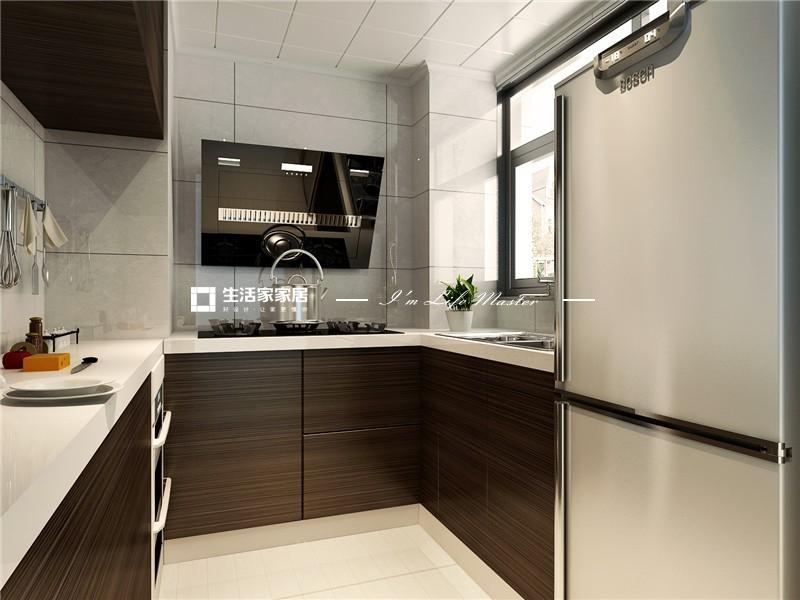 厨房功能是储存生活必备,为日常生活提供餐饮的保证。按厨房的功能可分为以下区域:储存、洗涤和烹调。通常又把这三个区域所形成的三个点所构成的三角形称为厨房工作三角形,考虑体现厨房的功能性。