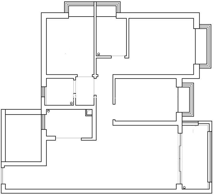 润城五区17-2203原始平面图