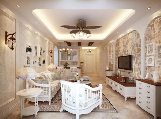 以象牙白,米色为主的装修风格 田园风格的主色调是象牙白,它向往大