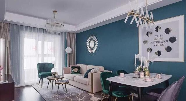 石灰蓝客厅墙面装修.jpg
